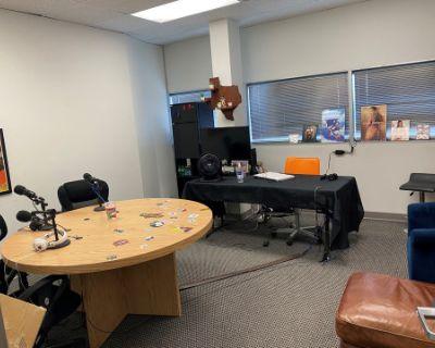 Spacious Podcasting Studio, Houston, TX