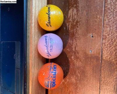 3 Small Car Specialties Showdown antenna balls