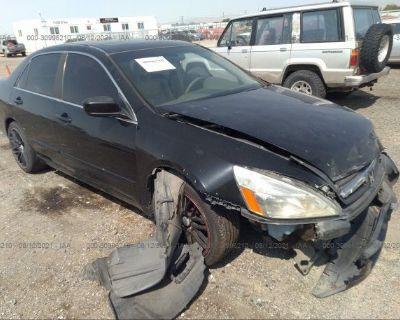 Salvage Black 2007 Honda Accord Sdn