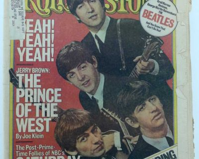 1976 ROLLING STONE MAGAZINE The Beatles Cover issue no. 217