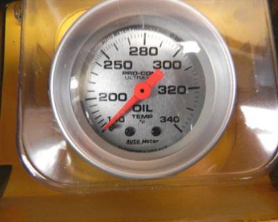 Auto Meter 4346 Ultra-lite Mechanical Oil Temperature Gauge 2 1/16 White 140-340