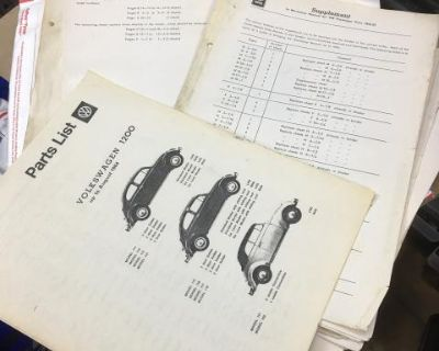 Original workshop manual pages from 53/55 and 56
