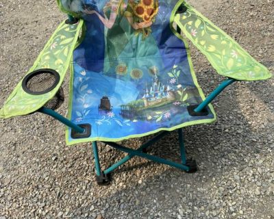 Frozen camping chair ( like brand new)