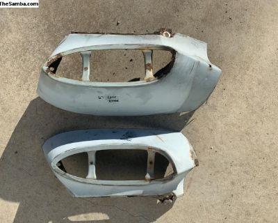 62-69 rear fender taillight repair metal sections