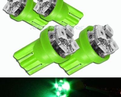 4x Green Smd 3 Led 12v T10 Interior Instrument Panel Gauge Wedge Light Lamp Bulb