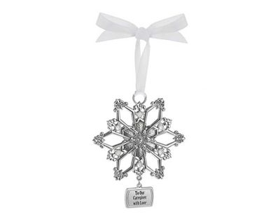 To Our Caregiver with Love Pewter Ornament, NWT