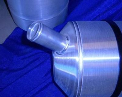 10x33 Spun Aluminum Gas Tank 11 Gallons Remote Fill
