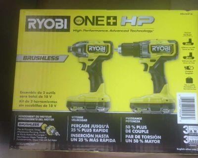 Ryobi One + HP Brushless Impact Driver and Drill
