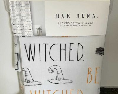 Rae Dunn - BE WITCHED - shower curtain