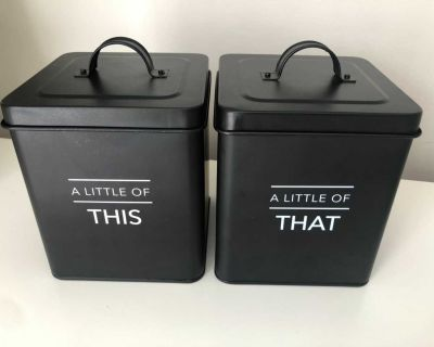Cute metal storage containers