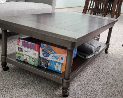 2 end tables and matching coffee table