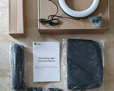 """8"""" LED Selfie Ring Light with Extendable Tripod Stand ( NOTE CROSSPOSTED)"""