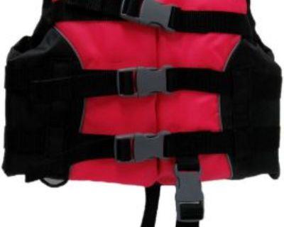 Omega Flowt Child Multi-sport Life Jacket Pfd Type Iii 30-50 Pounds Hot Pink