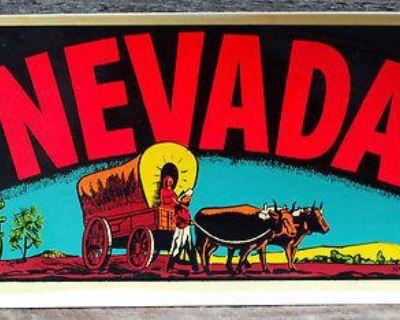 Vintage Travel Decal Nevada Rat Hot Rod Mid Century Art Trailer Coach Old Wagon