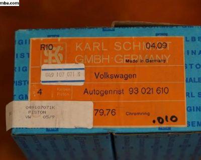 NOS Piston Set of 4 Kolbenschmidt 049107071K