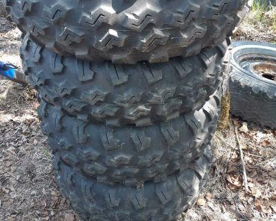 Maxxis tires on Polaris rims. In great shape lots of tread