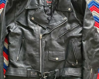 Leather Biker Coat