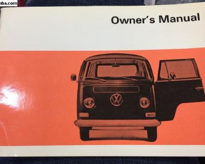 NOS 1969 Bus Owners Manual