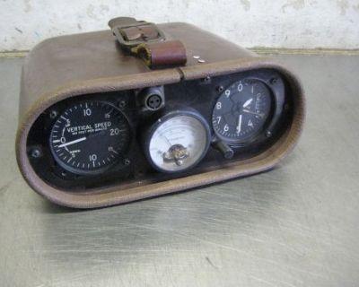 Vintage Hot Air Balloon Gauge Package Pyrometer Altitude Vertical Speed
