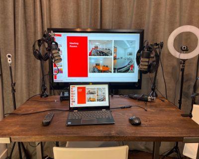 Clean Minimal Podcast Video Room, Austin, TX