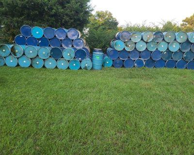 55 gallon metal drums