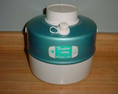 Gently Used Vintage Revelation By Thermos 1 Gallon Capacity Deluxe Lightweight Picnic Jug. Features Extra Wide Neck Opening To Add Ice...