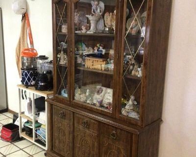 Two Piece Lighted Donny Hutch.