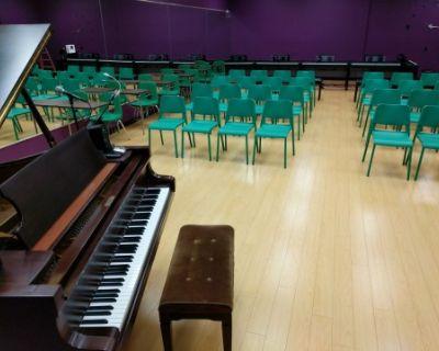 Piano recital space, roomy, plenty of seating, Woodland Hills, CA