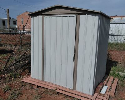 6ft Tall Metal Storage Shed