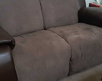Recliner couch and love seat