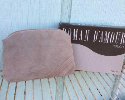 Designer, leather, Zipped handbag clutch