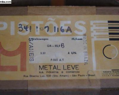 NOS Piston Set of 4 - 85.5/0.50 Metal Leve Brazil