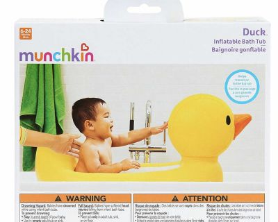 Brand new munchkin inflatable bath rub