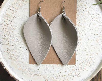 Genuine Leather Earrings Handmade