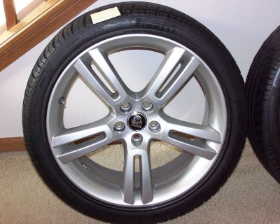 "Jupiter 19"" wheels and Pirelli tires like new for Jaguar XKR 07 or newer."