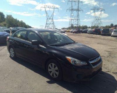 Salvage Black 2014 Subaru Impreza Sedan