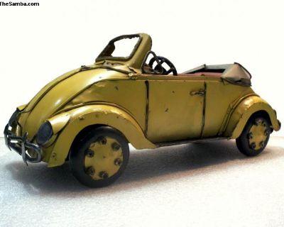 Convertible Beetle Metal Sculpture Decor