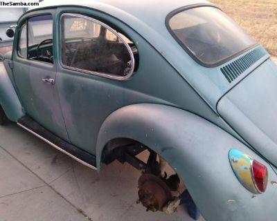 66 Bug On New Irs Pan 4 wheel discs Porsche wheels