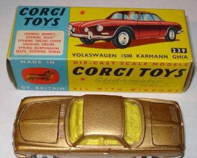 Corgi #239 Type 34 Karmann Ghia 1500 Gold