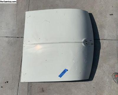 Early 3 bolt hood trim Pearl White