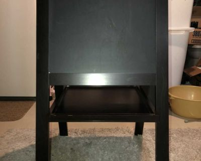 Chalkboard and dry erase board easel