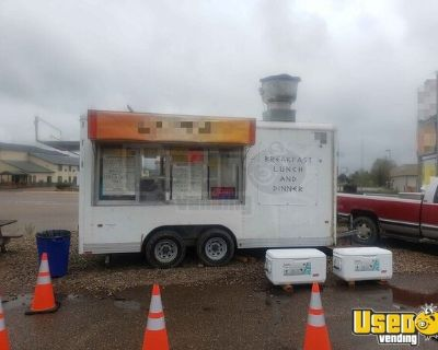 2002 Wells Cargo 8' x 16' Used Mobile Kitchen Food Concession Trailer