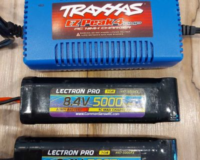 Batteries and charger for Traxxas Remote Control Car