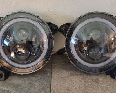Texas - KIWI MASTER 9 Inch Round LED Headlights Halo DRL for Jeep Wrangler JL/JT 2018-2021