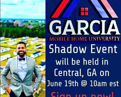 Live mobile home investing event