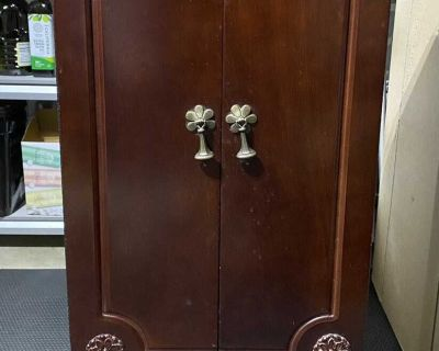 Vintage Style Jewelry Armoire with Mirror