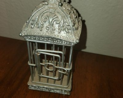 Tiny bird cage decoration or ornament