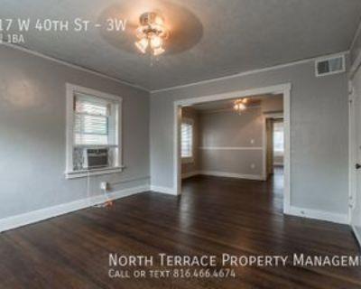 1117 W 40th St #3W, Kansas City, MO 64111 1 Bedroom Apartment