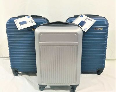 3 Brand New with Tags WestJet Carry-on Size 4 Wells, Hard Shell Luggage