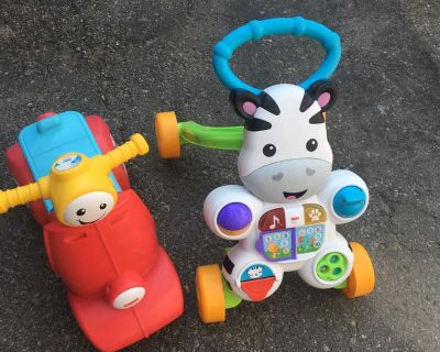 Baby walkers and car with music